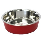 Bella Stainless Steel Pet Bowl 14cm Red