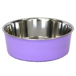 Bella Stainless Steel Pet Bowl 14cm Purple