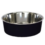 Bella Stainless Steel Dog Bowl 17cm Black