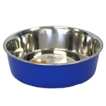 Bella Stainless Steel Pet Bowl 17cm Blue
