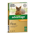 Advantage for Cats 0-4kg Orange 4 Pack