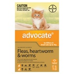 Advocate for Cats and Kittens <4kg - Orange 3 Pack