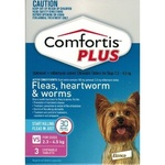 Comfortis Plus Pink Very Small Dog 3 Pack