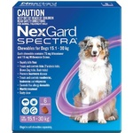 NexGard Spectra Large Dog (6 Pack) 15.1-30kg