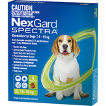 NexGard Spectra Medium Dogs 7.6-15kg 6 Pack