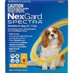 NexGard Spectra Small Dog (3 Pack) 3.6-7.5kg