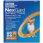 NexGard Spectra Very Small Dog (3 Pack) 2-3.5kg