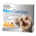 NexGard Very Small 2.0-4kg 6pk (Orange)