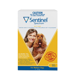 Sentinel Spectrum 3 Pack Medium Dog 11 to 22kg Yellow