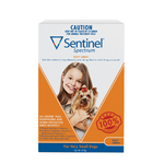 Sentinel Spectrum 6 Pack Very Small Dogs up to 4kg Orange