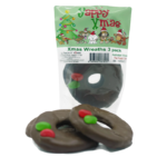 Yappy Xmas Wreath Dog Treats 3 pack