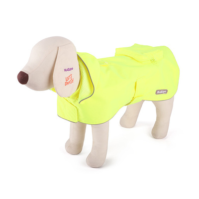 Dog Rain Coat Large 59.5cm Hi-Vis Fluro