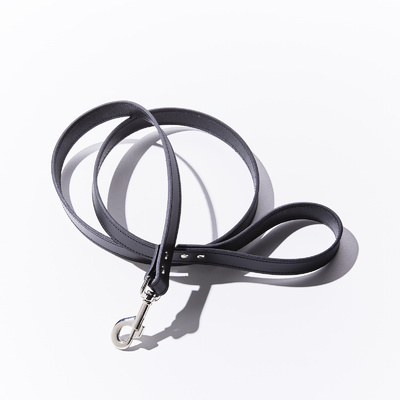 Leather Dog Lead 25mm x 140mm Black