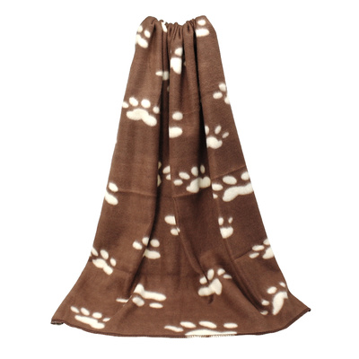 Pet Dog / Cat Blanket 88 x 73cm Paws Brown