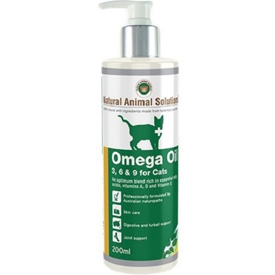 Natural Animal Solutions Cat Omega Oil 200ml