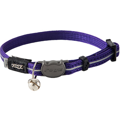 Rogz Alleycat Safeloc Collar Purple 11mm
