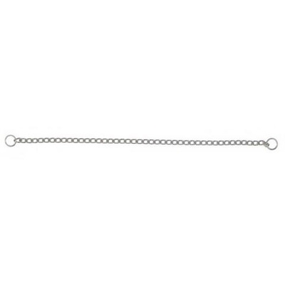 "Chrome Check Chain Collar 4mm x 51cm (20"")"