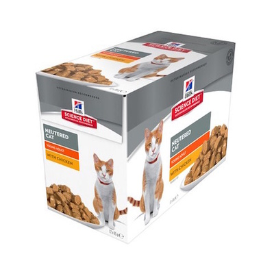 Hill's SD Cat Neutered Adult Chicken 12 x 85g Pouches