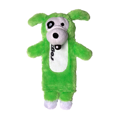 Rogz Thinz Plush Dog Toy Large Lime