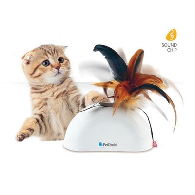 Feather Hider 'Pet Droid' w/natural feather, sound module and motion sensor