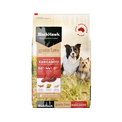 Black Hawk Dog Grain Free Kangaroo 15kg