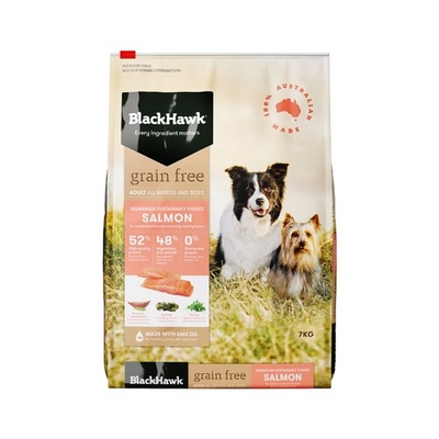 Black Hawk Dog Grain Free Salmon 7kg