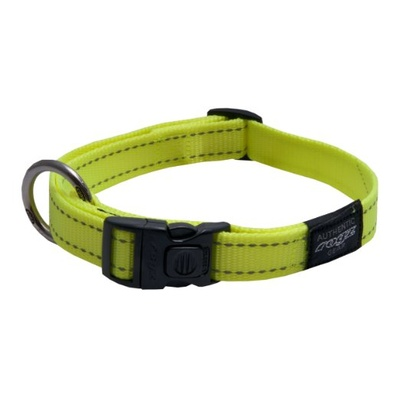 Rogz Fanbelt Collar Large Dayglow Yellow