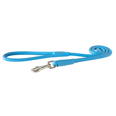 Rogz Leather Round Fixed Lead Turquoise Large 13mm Diameter