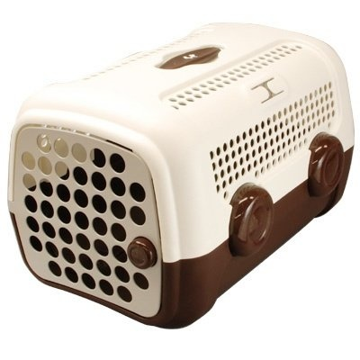 United Pet A.U.T.O Pet Carrier [Colour: Brown / White]