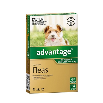 Advantage for Dogs 0-4kg Green 4 pack