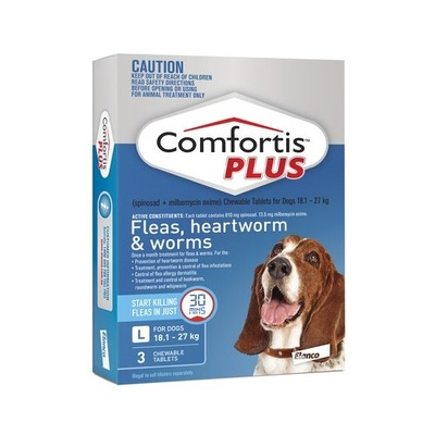 Comfortis Plus Blue Large Dog 3 Pack