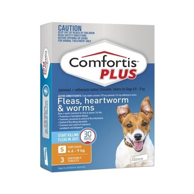 Comfortis Plus Orange Small Dog 3 Pack