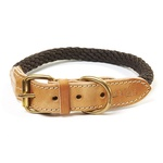 Da Vinci Lucrezia Rope Dog Collar 60cm Brown