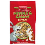 Peters 4kg Nibble & Gnaw Banquet Mix for Rabbits & Guinea pigs