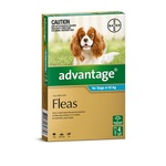 Advantage Flea Treatment Dogs 4-10kg Teal 4 pack