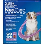 NexGard Spectra Large Dog (3 Pack) 15.1-30kg