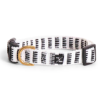 Mog & Bone Small Hemp Dog Collar / Black Mosaic Print