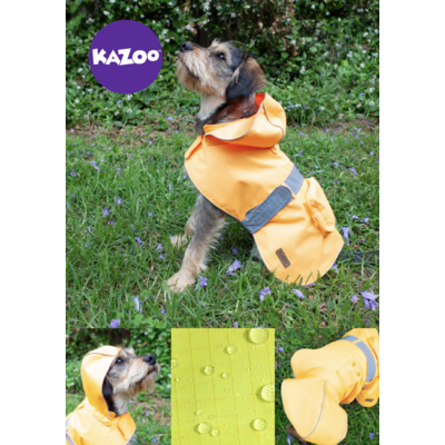 Dog Rain Coat Hi-Vis Orange Small 40cm