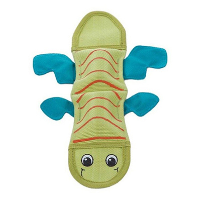 Fire Biterz Lizard 2 Squeaker Dog Toy - Green