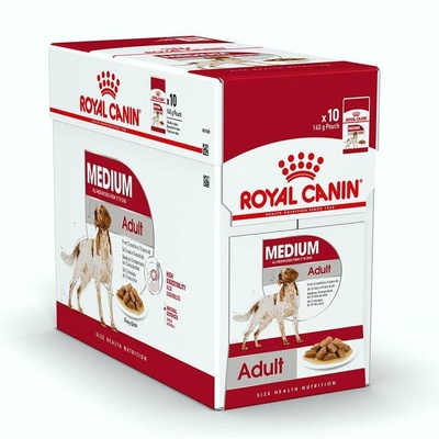 Royal Canin Dog Medium Adult Wet 10 x 140g