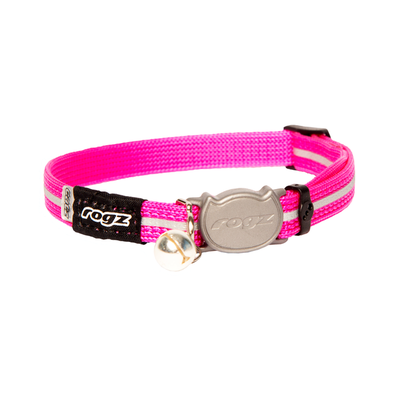 Rogz Cat Collar Alleycat Safeloc Pink 8mm