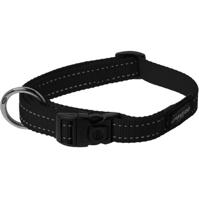 Rogz Large Dog Collar Black - Fanbelt